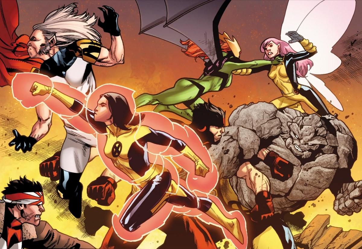 New Unlettered Pages for Uncanny X-Men # 1 Featuring the Young X-Men in action