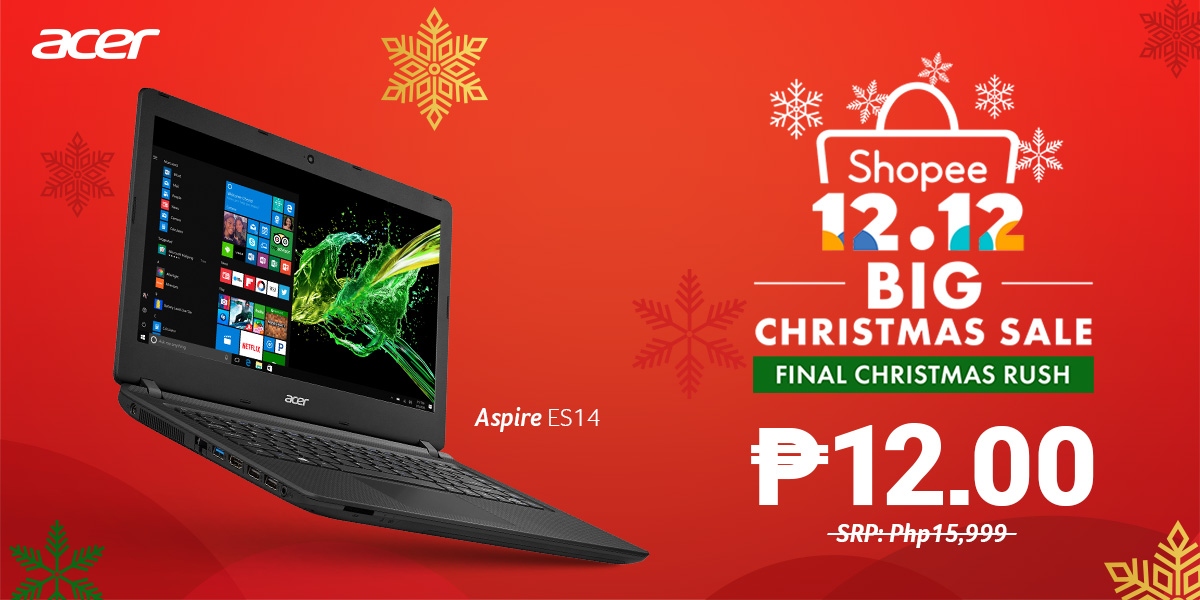 ACER JOINS SHOPEE WITH 12 PESO LAPTOPS