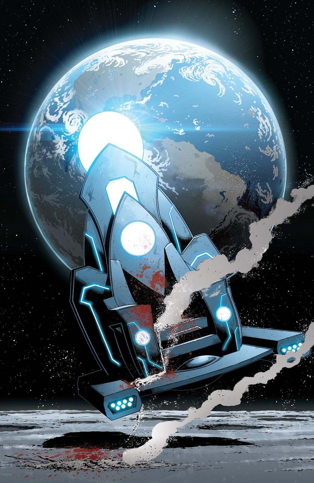 As seen above when Owlman tried to unlock the secrets of the universe a blue light zaps them and the next page reveals a bloody Mobius Chair and the ashes ... & Doctor Manhattan Murders Owlman and Metron - The Fanboy SEO