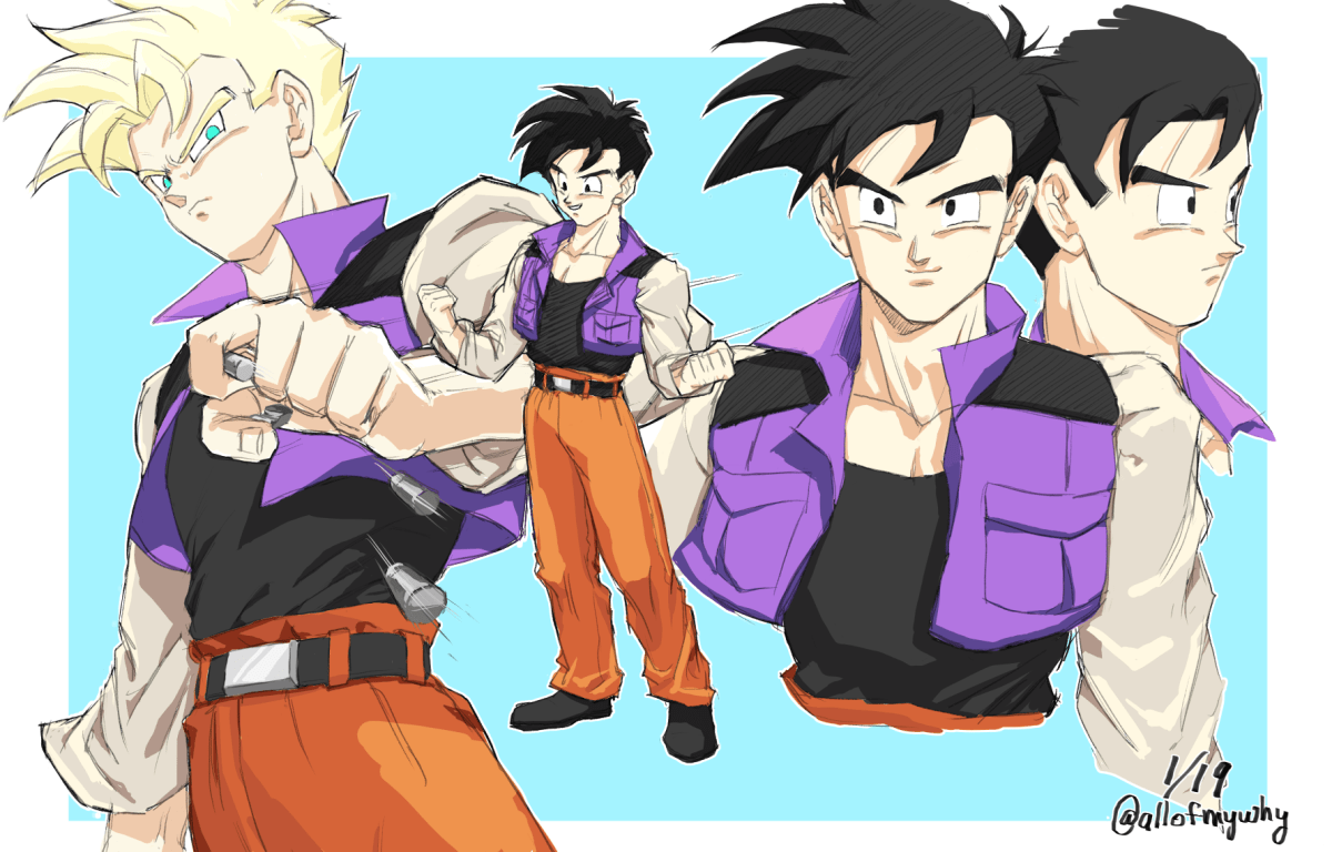Gohan Concept Art Shows a Different Gohan during the Buu Saga