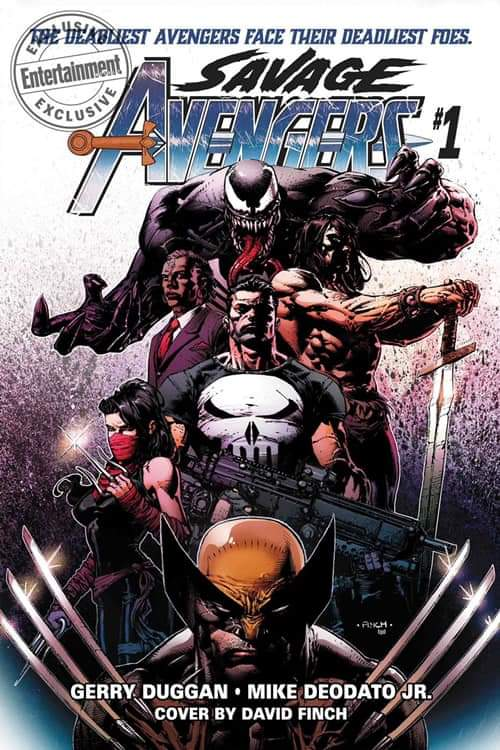savage avengers issue 1 cover david finch