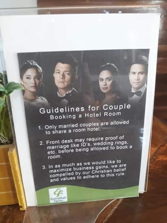 TRENDING: Christian Hotel Requiring Marriage Proof Before Check In, Uses Halik Photo too