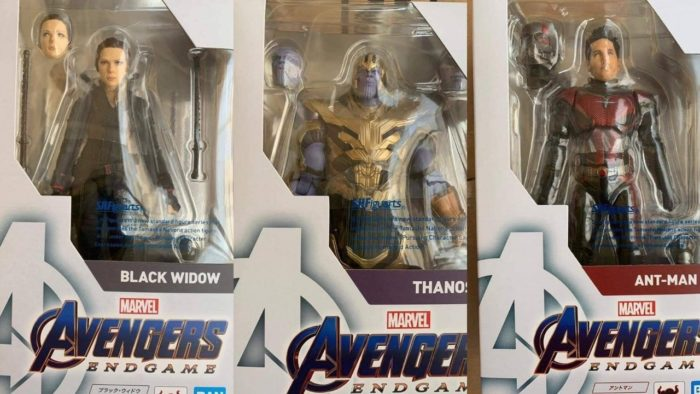 SH Figuarts Avengers: Endgame In-Packaged Look featuring Thanos, Ant-Man and Black Widow