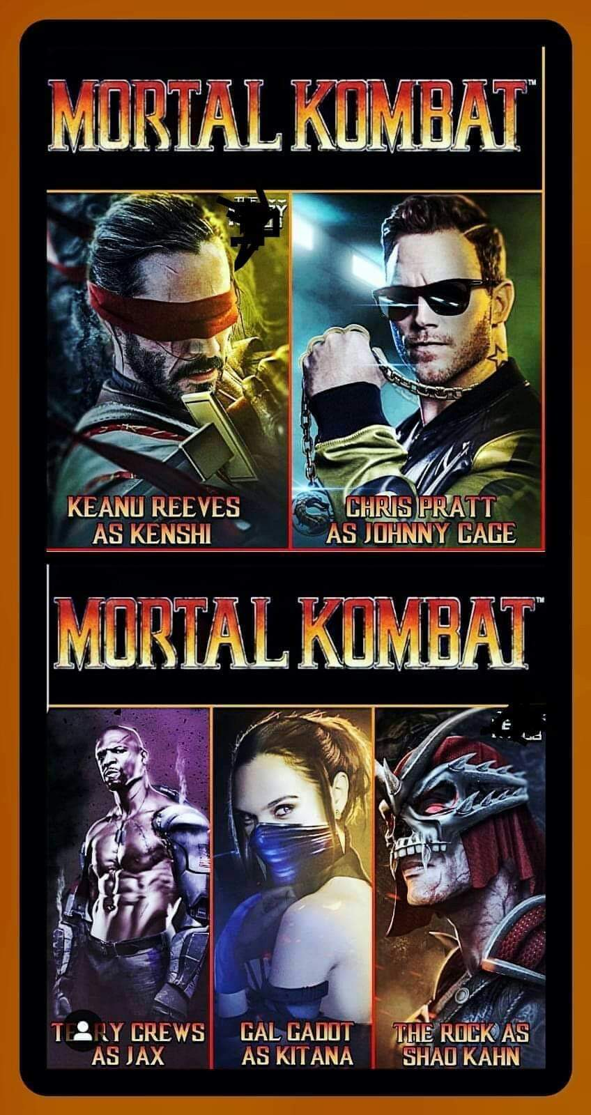 Fan-Made Mortal Kombat Art Casts Keanu Reeves as Kenshi and