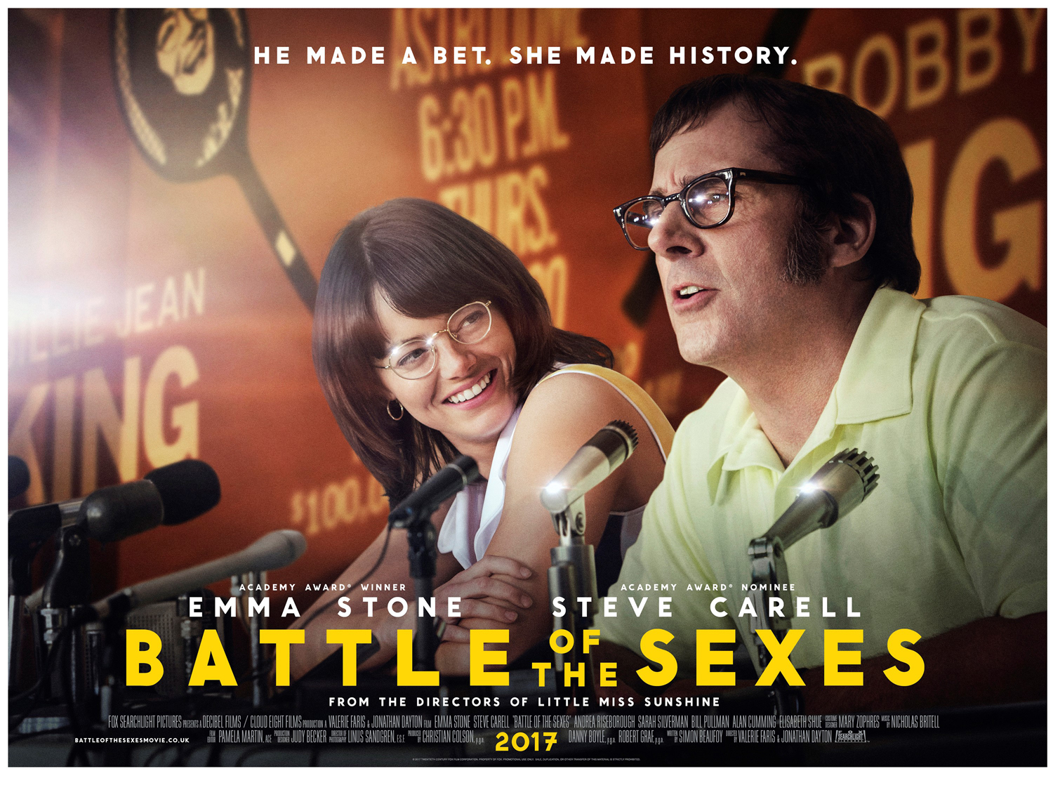 Image result for battle of the sexes movie poster