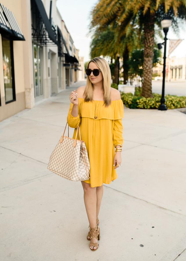 Glamourous Off Shoulder Long Sleeve Dress