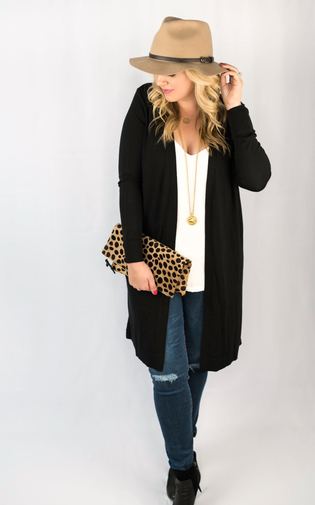 Fall Outfit Halogen Side Slit Cardigan Nordstrom Sale Fancy Things