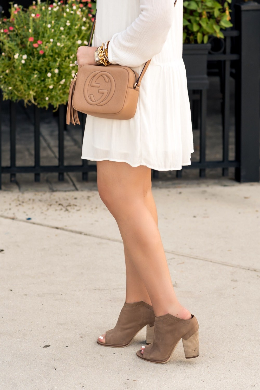 Gucci Disco Bag and Dolce Vita Booties- Fancy Things
