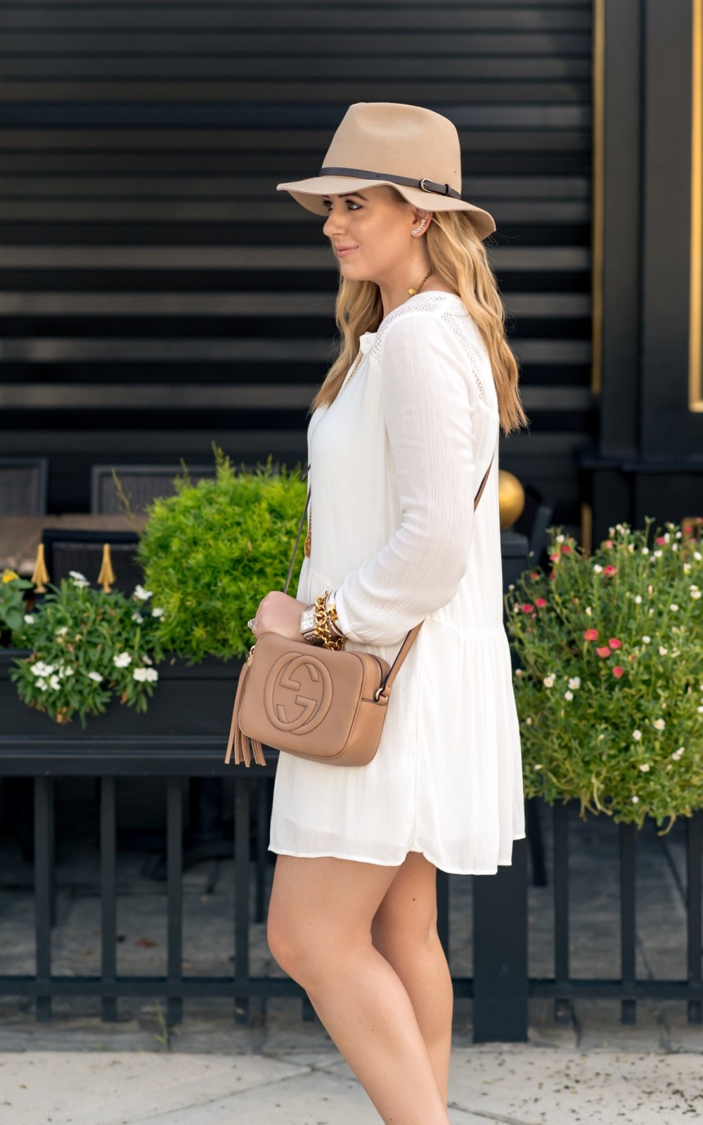 Hinge White Lace Dress