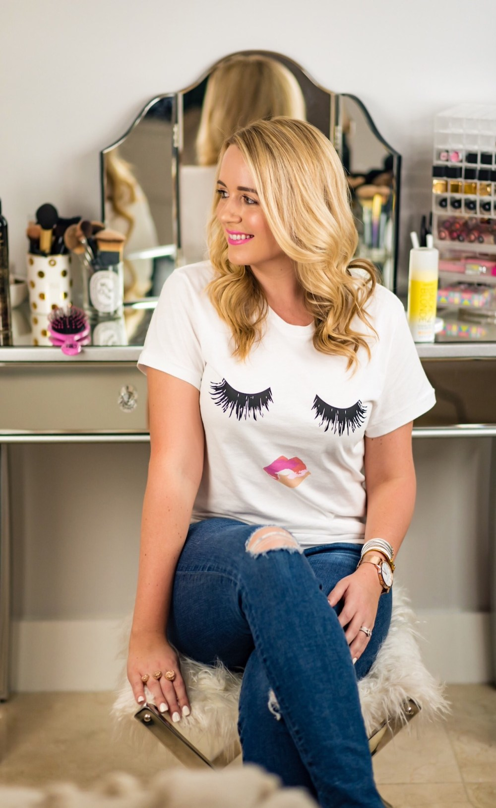 Lips and Lashes Tee Sincerely Jules Nordstrom Fancy Things