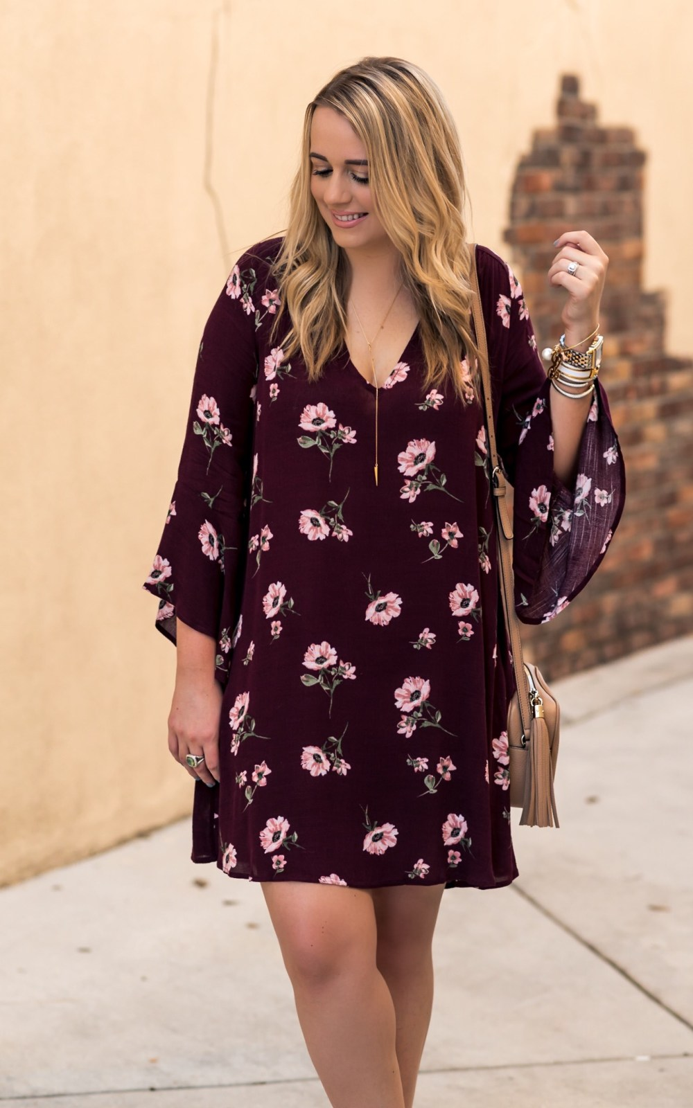 Lush Bell Sleeve Shift Dress Fancy Things