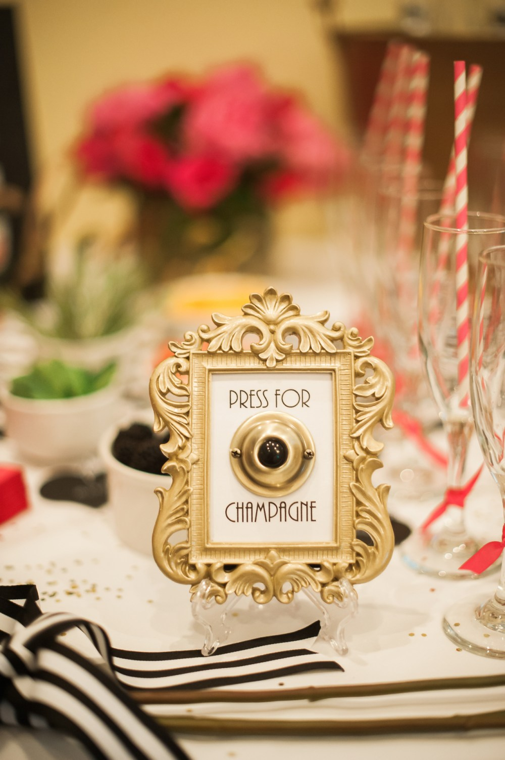 Press for Champagne Bridal Shower Decoration Bar Cart Fancy Things