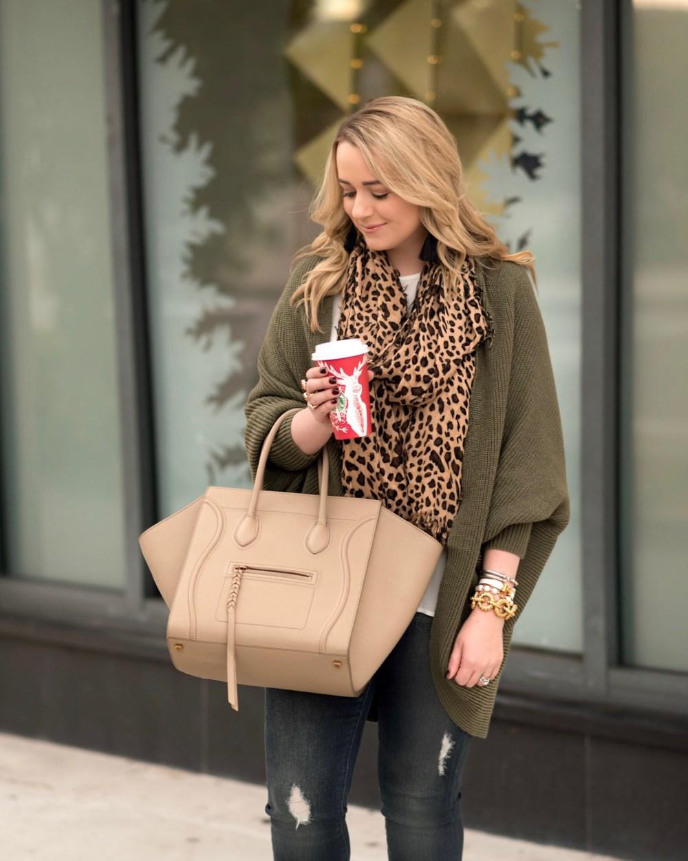 olive-cardigan-shein-leopard-scarf-fancy-things