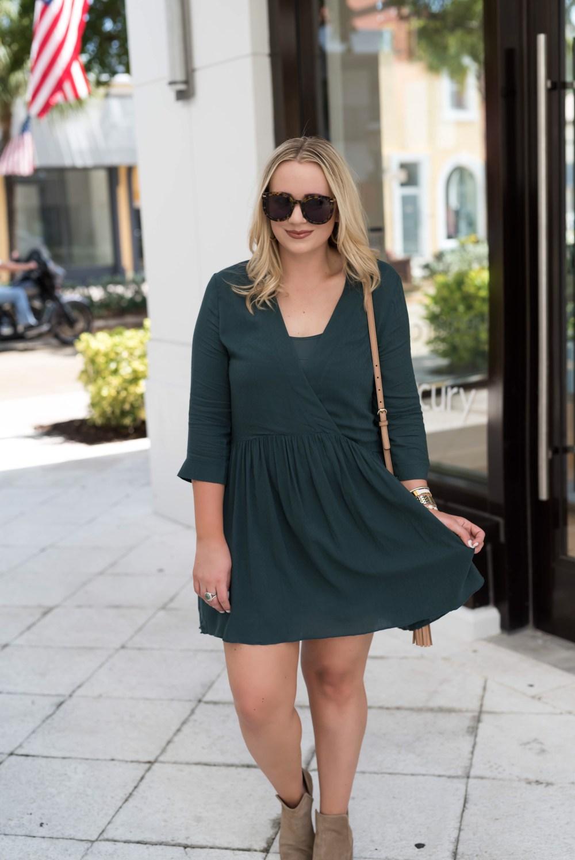 Green Gables Hinge Babydoll Dress Nordstrom Fancy Things