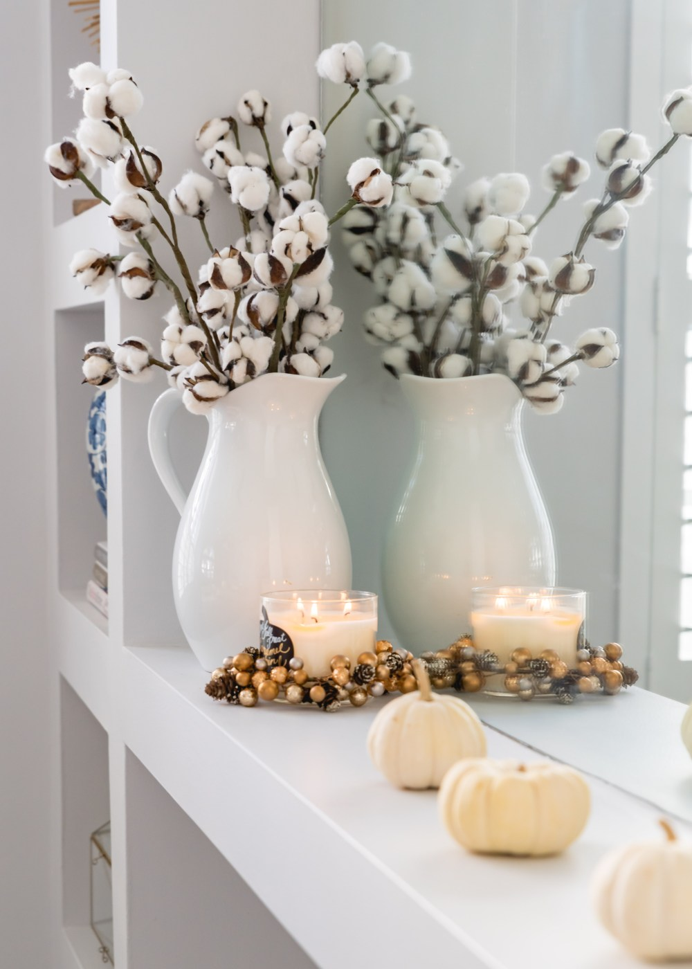 Cotton Stem Pitcher Decoration Fall Home Decor Fancy Things