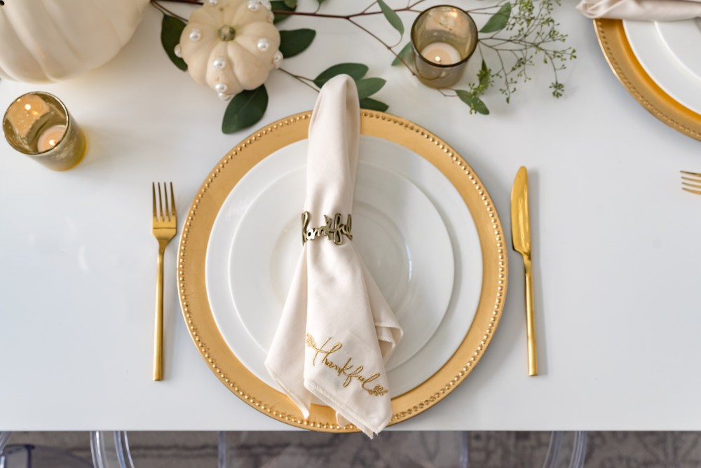 Thankful Cloth Dinner Napkin Thankful Napkin Ring Fancy Things