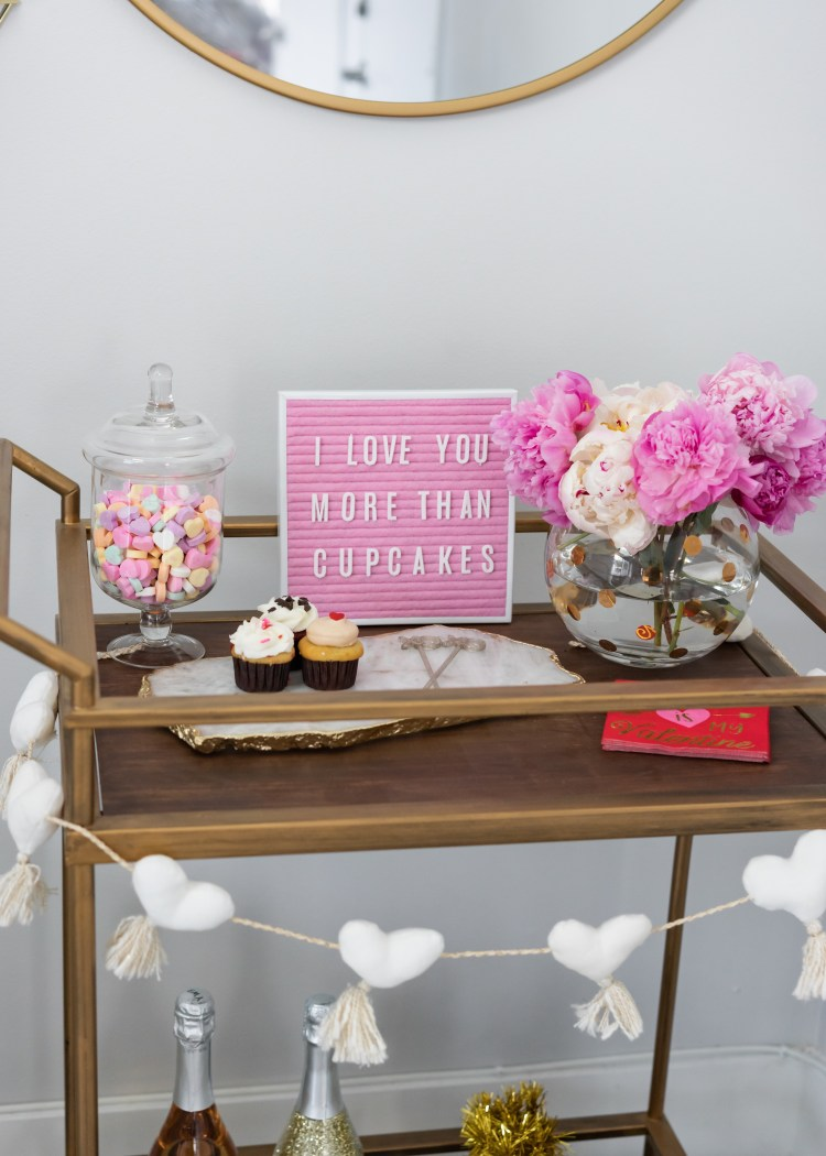 Valentines Bar Cart