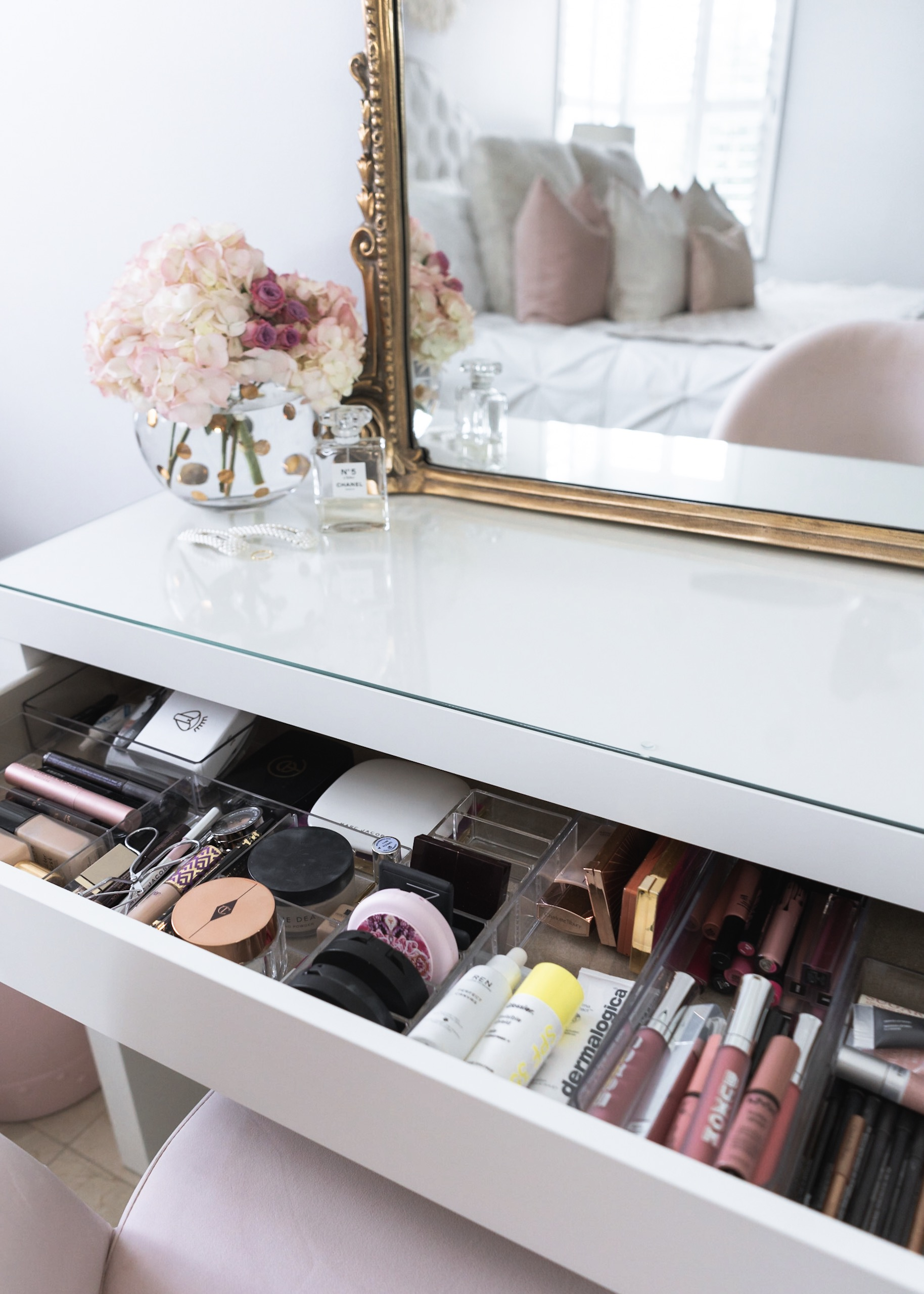 how I organize my makeup bedroom ikea malm dressing table fancy things