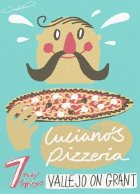 Luciano's pizzeria poster