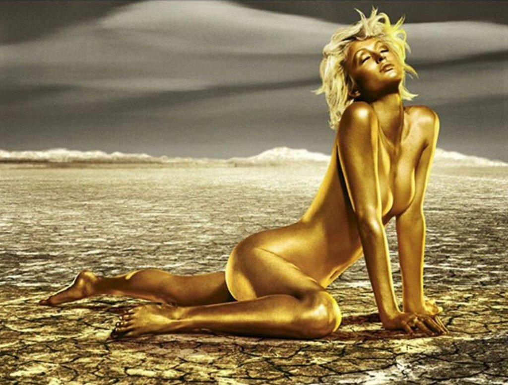 Paris Hilton Bodypaint (2 Photos)