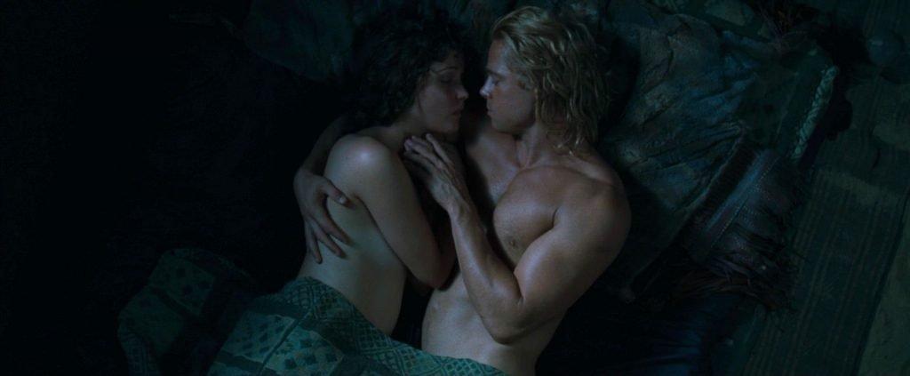 Rose Byrne and Brad Pitt Sex Scene – Troy (8 Pics + GIF & Video)