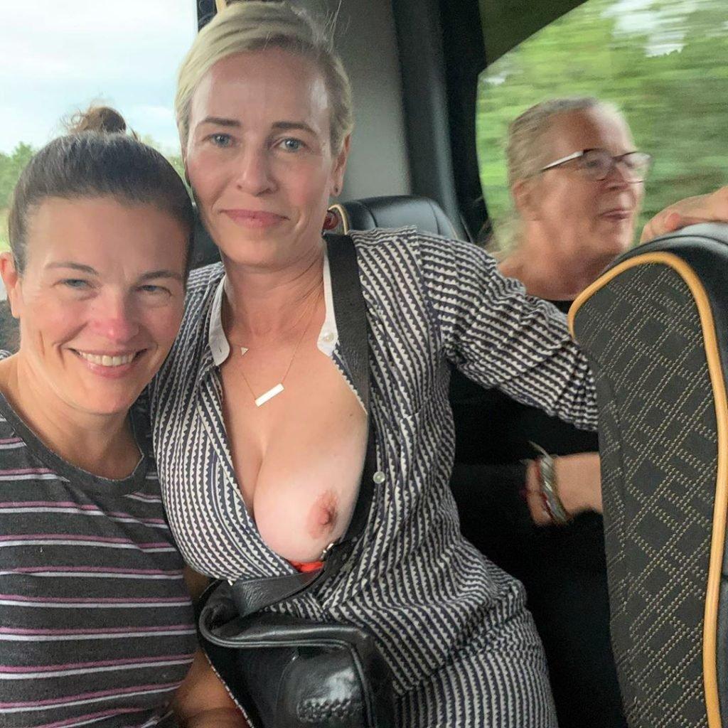 Chelsea Handler's Bare Boob (1 New Photo)