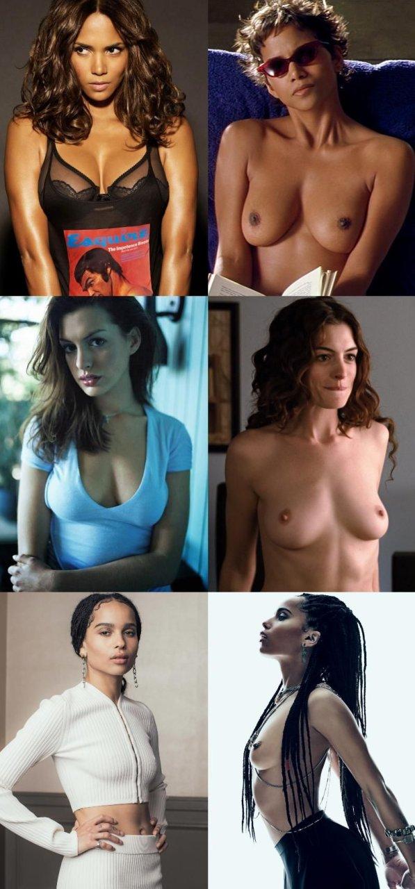 Halle Berry, Anne Hathaway, Zoe Kravitz Nude (1 New Photo)
