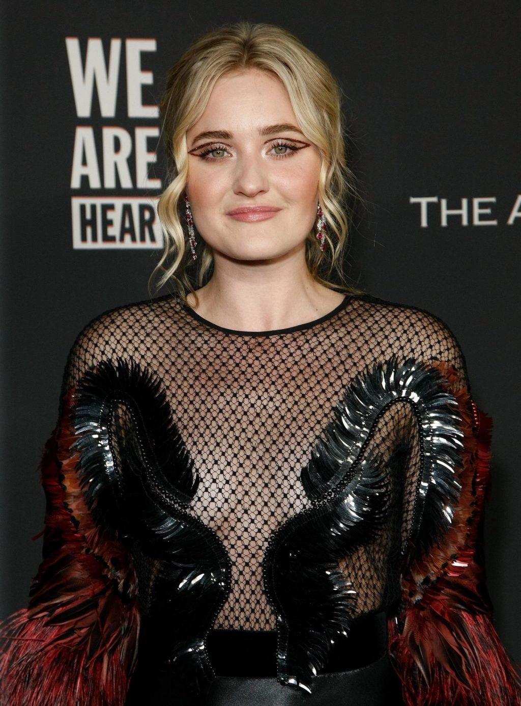 AJ Michalka Shows Her Tits at The Art of Elysium's Event (13 Photos)