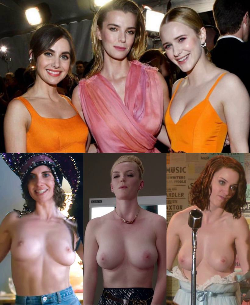 Alison Brie, Betty Gilpin, Rachel Brosnahan Nude & Sexy (1 Photo)