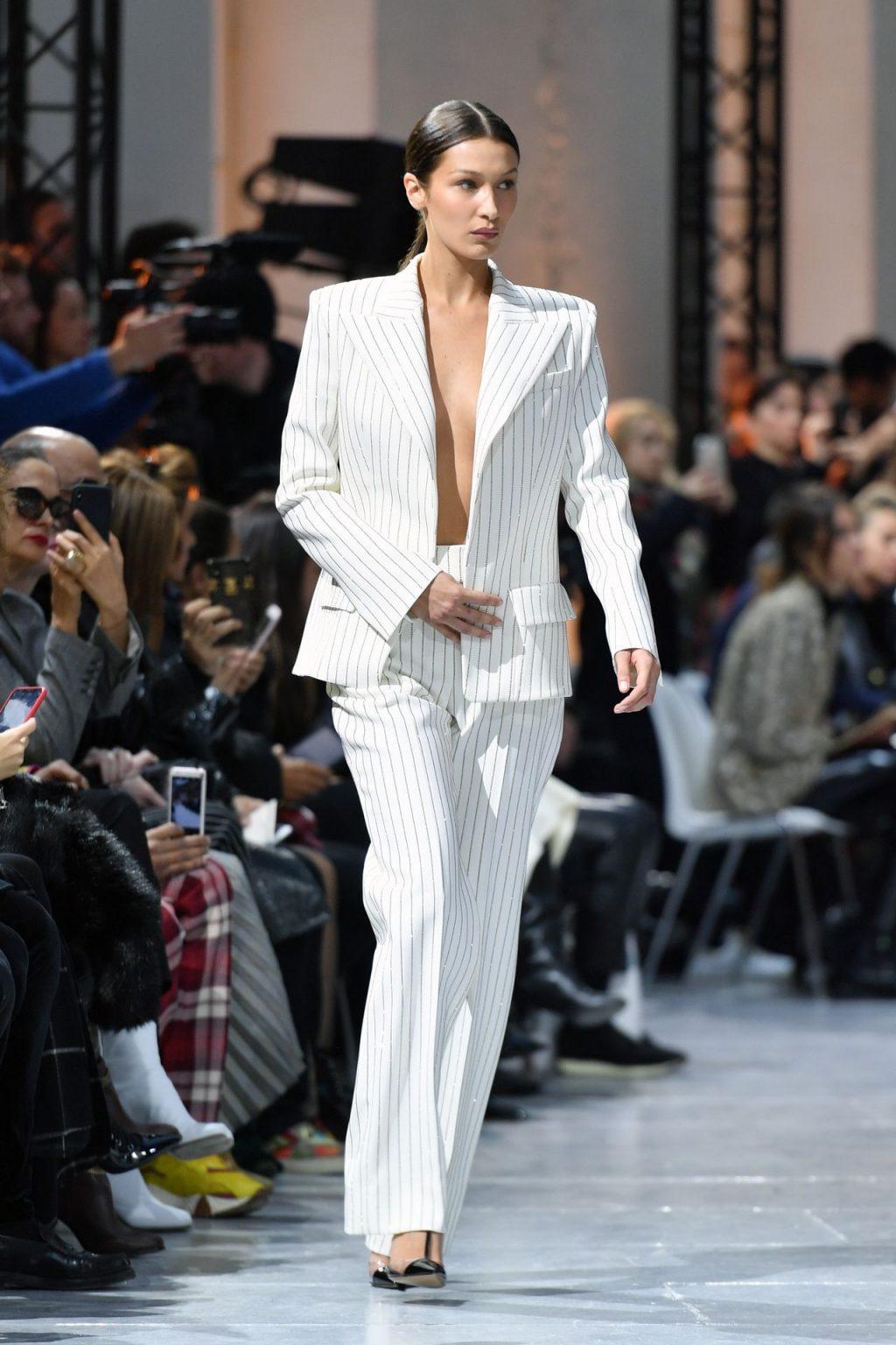 Bella Hadid Walks The Runway Braless (32 Photos)