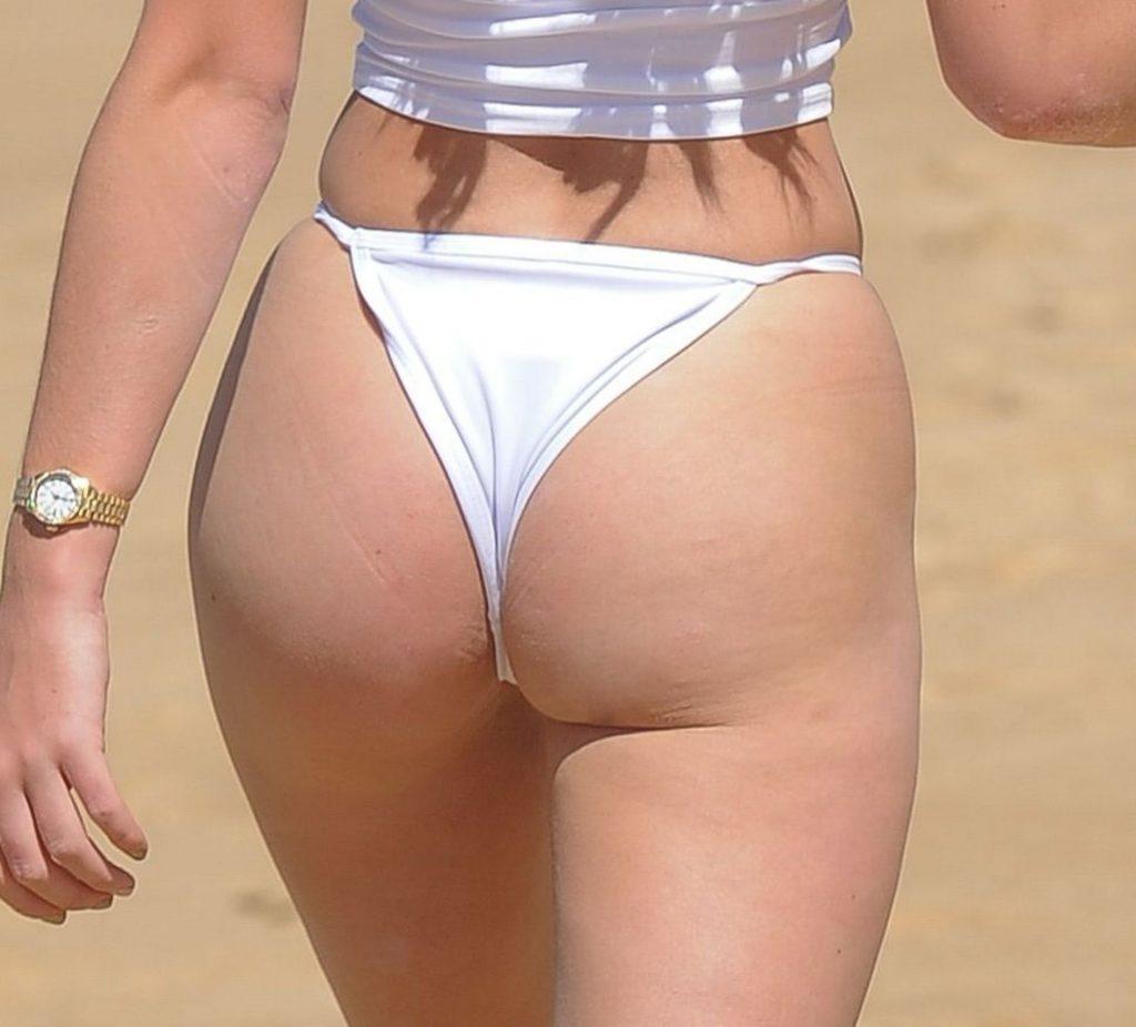 Georgia Harrison Seen Enjoying Day On The Beach In Tenerife (15 Photos)