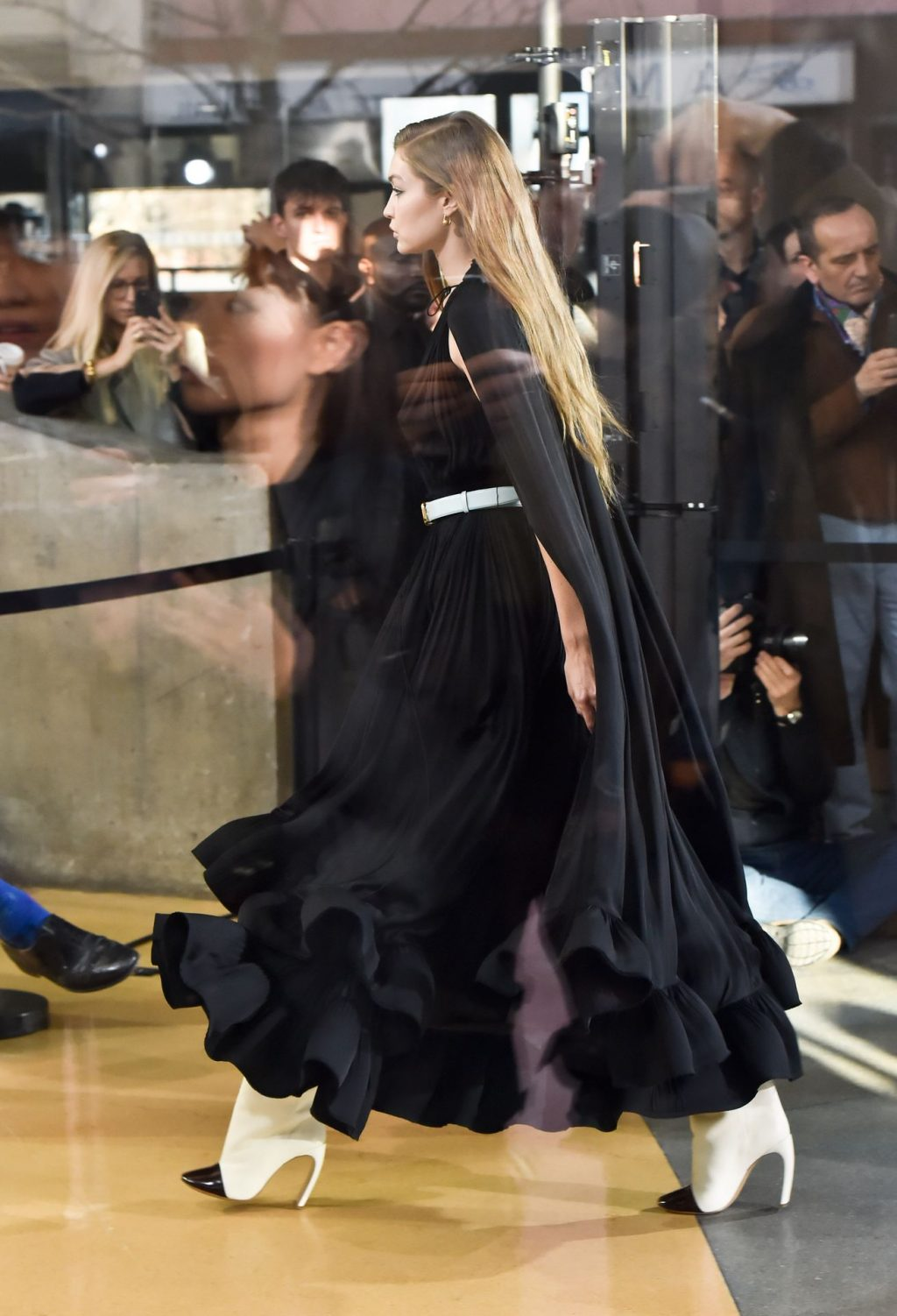 Gigi Hadid Seen Walking The Lanvin Catwalk In Paris (9 Photos + Video)
