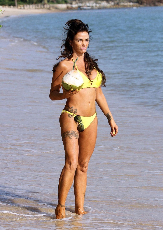 Katie Price Looks Sexy in her Yellow Bikini (11 Photos)