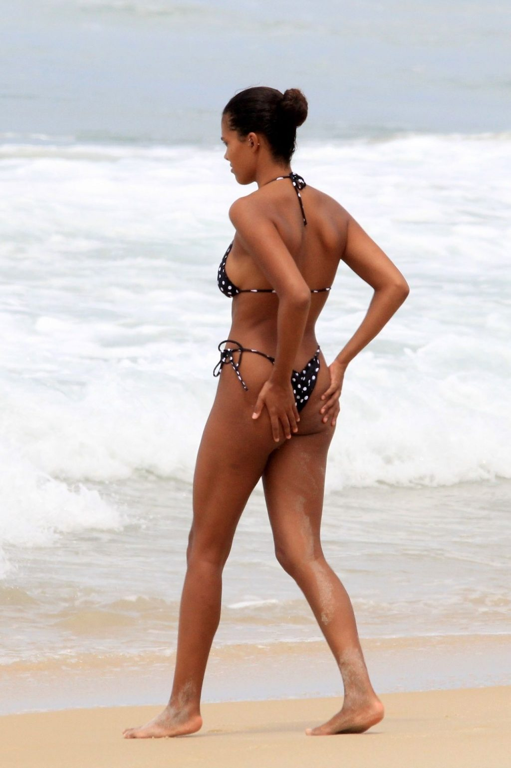 Tina Kunakey Nearly Nip Slip While Frolicking on the Beach in Rio (73 Photos)