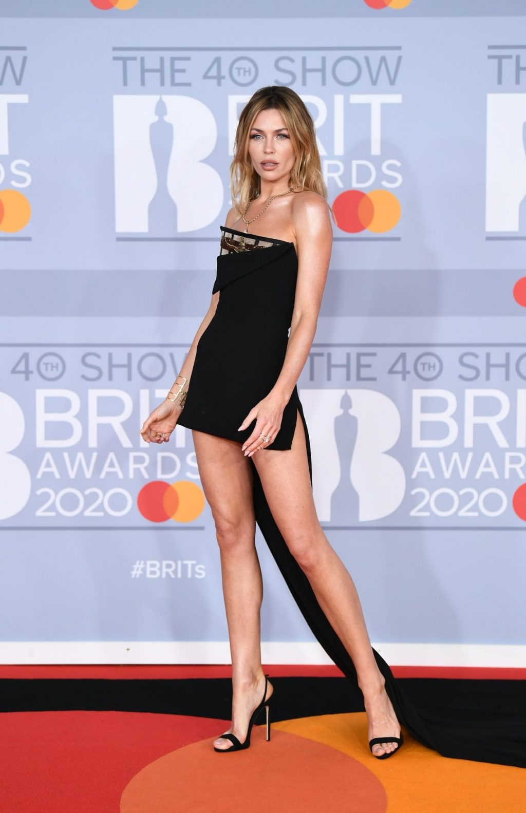 Abbey Clancy Shows Her Sexy Legs at The 40th Brit Awards (27 Photos)