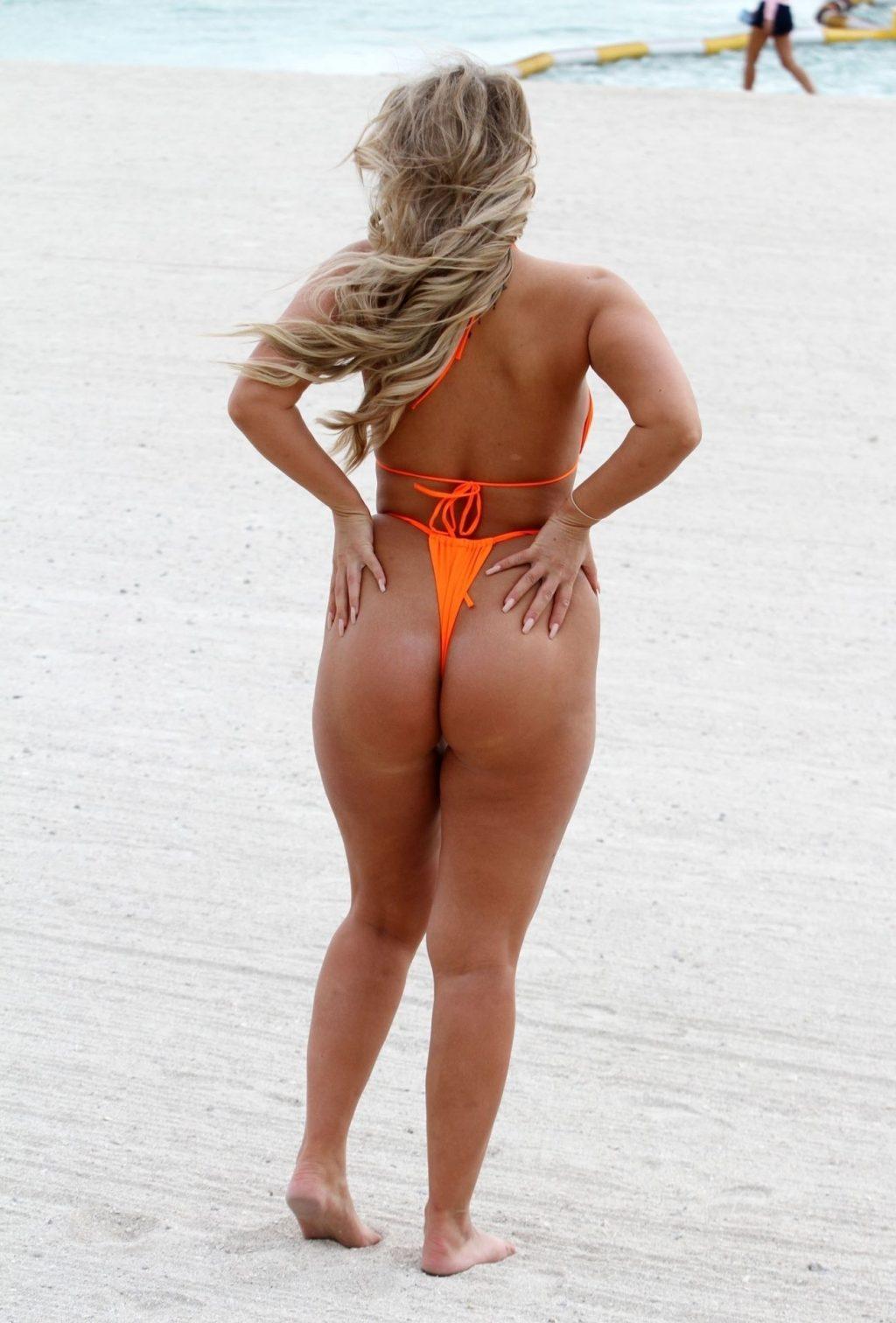 Bethan Kershaw Pictured Wearing a Bright Orange Bikini (12 Photos)