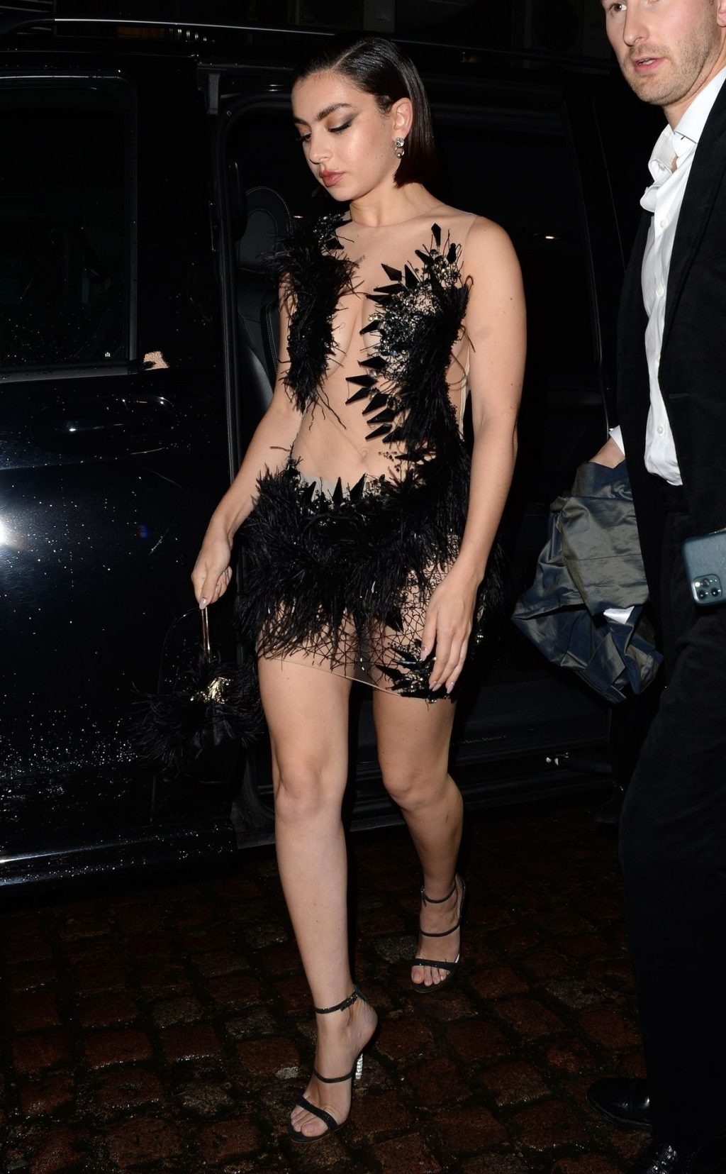 Charli XCX Displays Her Tits in a See-Through Dress (7 Photos)