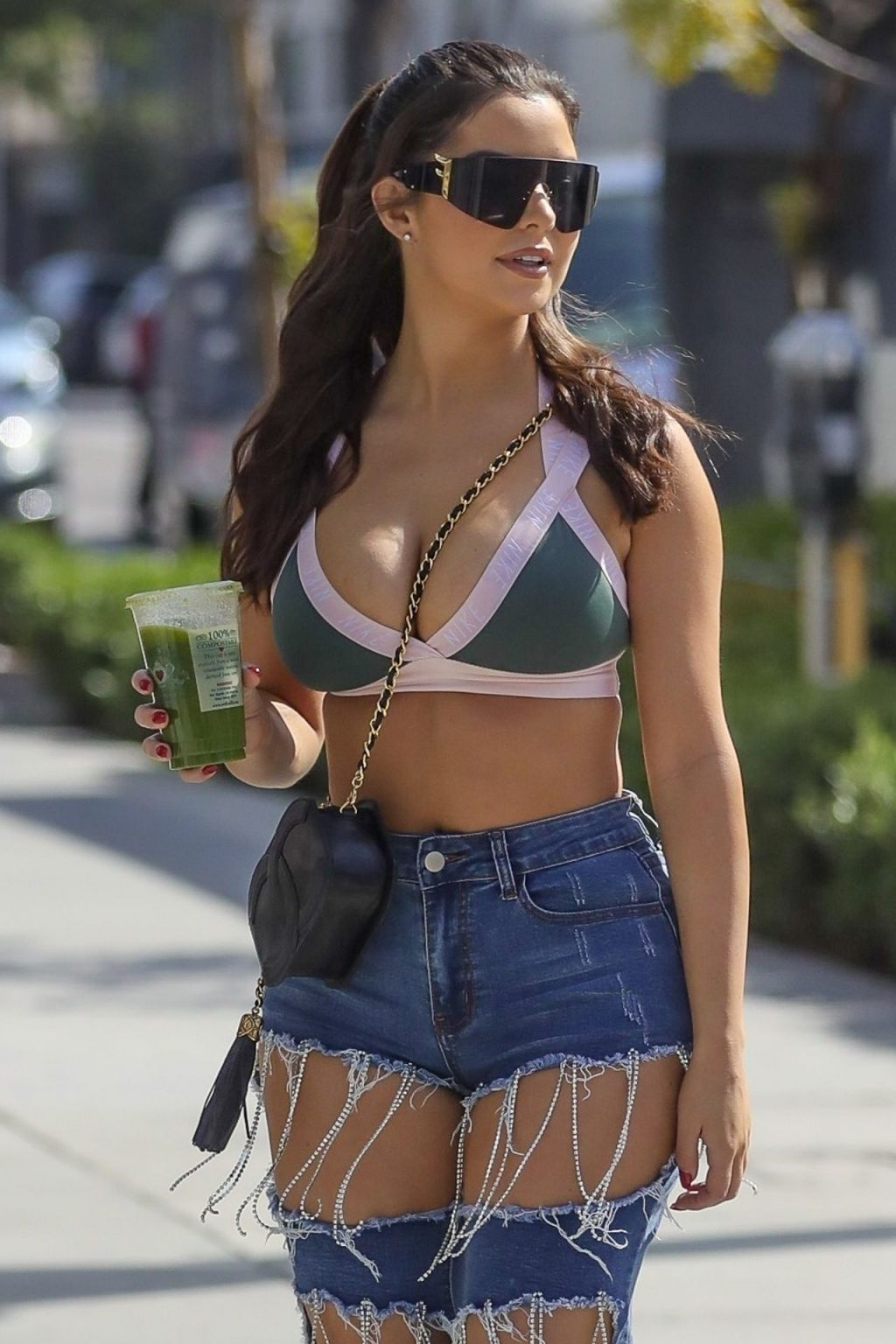 Demi Rose Visits the PrettyLittleThing Showroom on Melrose in Los Angeles (92 Photos)