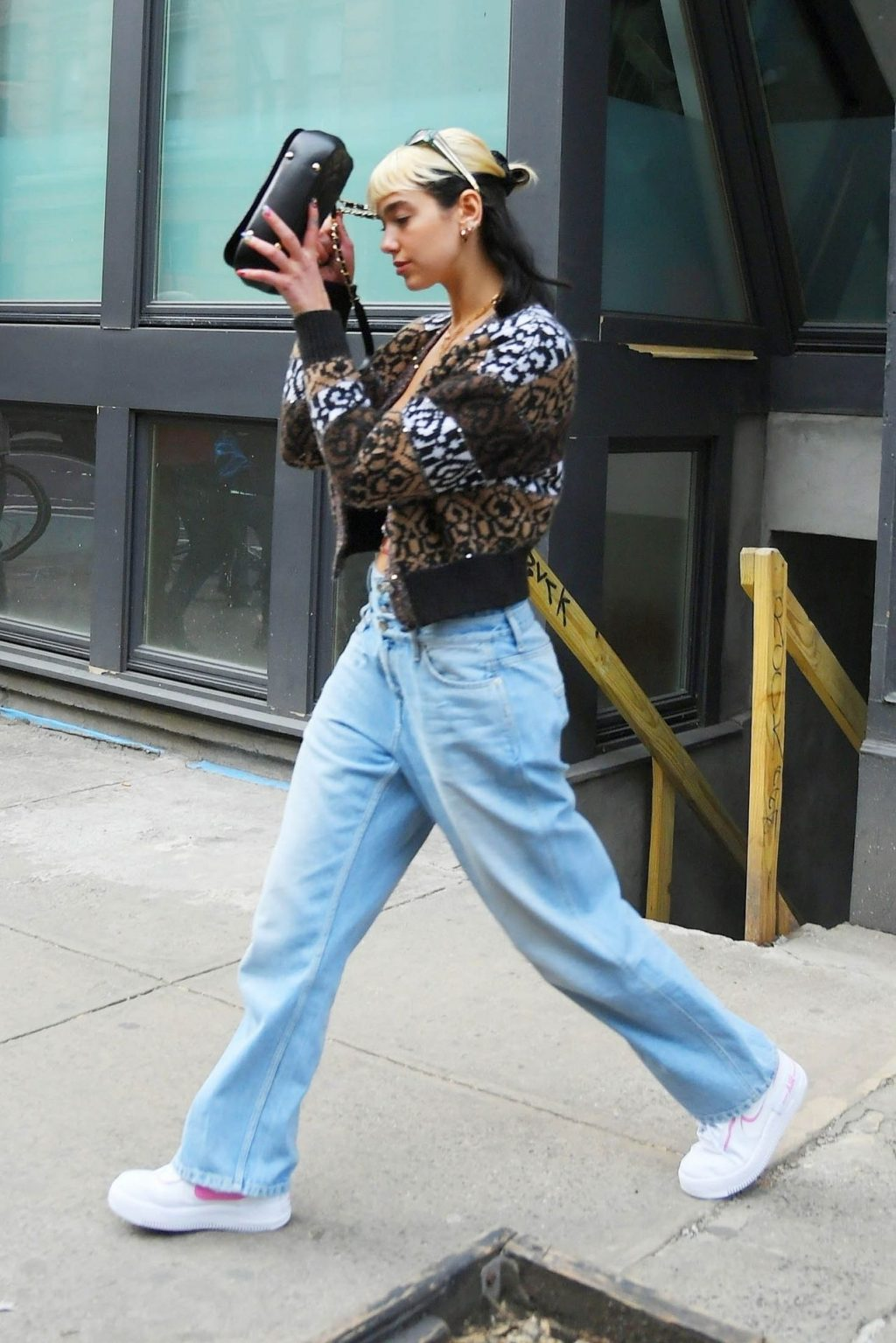 Dua Lipa Spotted Leaving Her Apartment While Wearing a Double Denim Jeans in NYC (67 Photos)