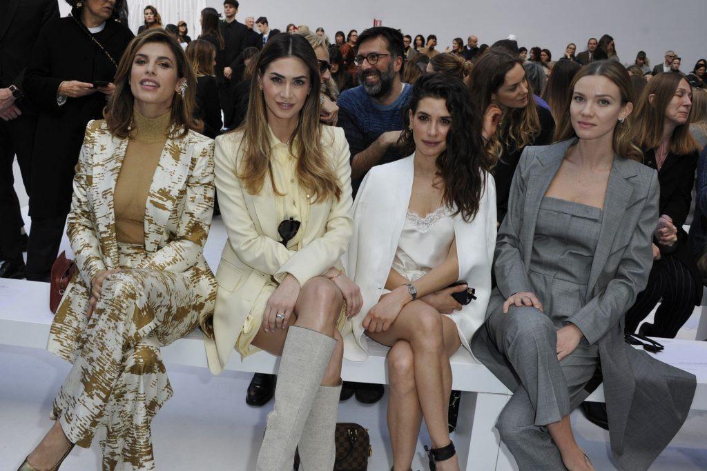 Braless Elisabetta Canalis Attends the Max Mara Fashion Show During Milan Fashion Week (41 Photos)