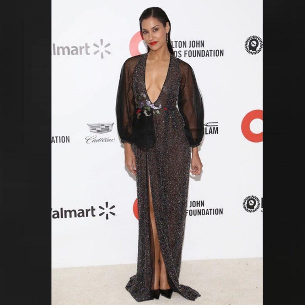 Janina Gavankar Shows Her Tits at the Elton John AIDS Foundation Oscar Party (17 Photos)