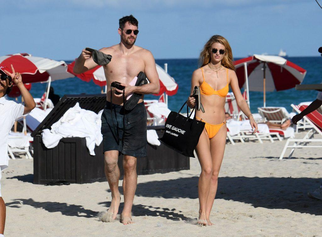 Kate Bock Wears an Orange Bikini on the Beach in Miami (39 Photos)