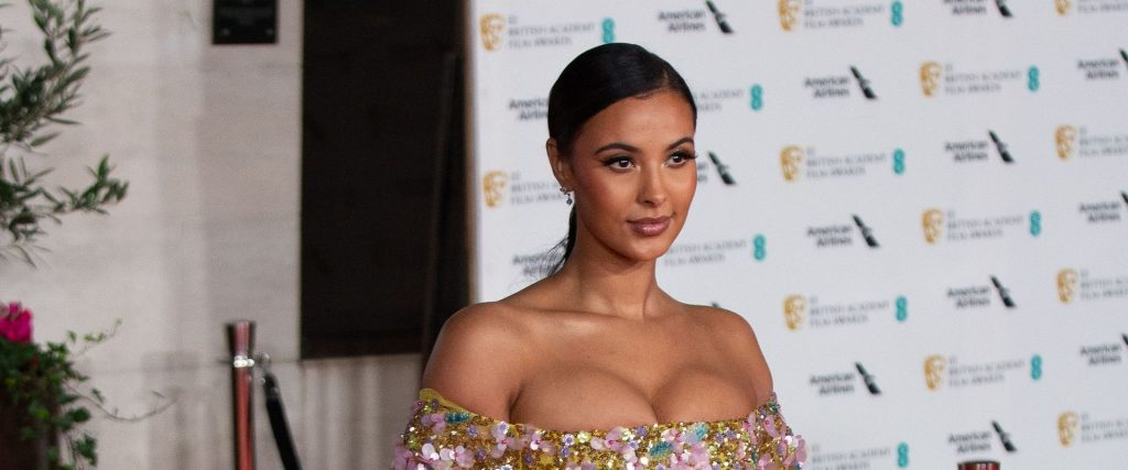 Maya Jama Shows Her Cleavage at the British Vogue And Tiffany & Co. Party (76 Photos)