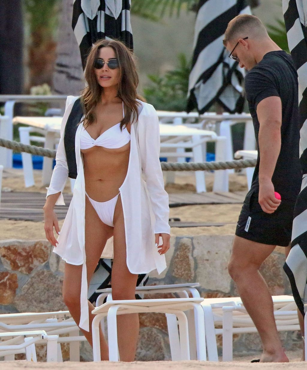 Olivia Culpo Displays Her Amazing Sexy Body in a White Bikini (28 Photos)