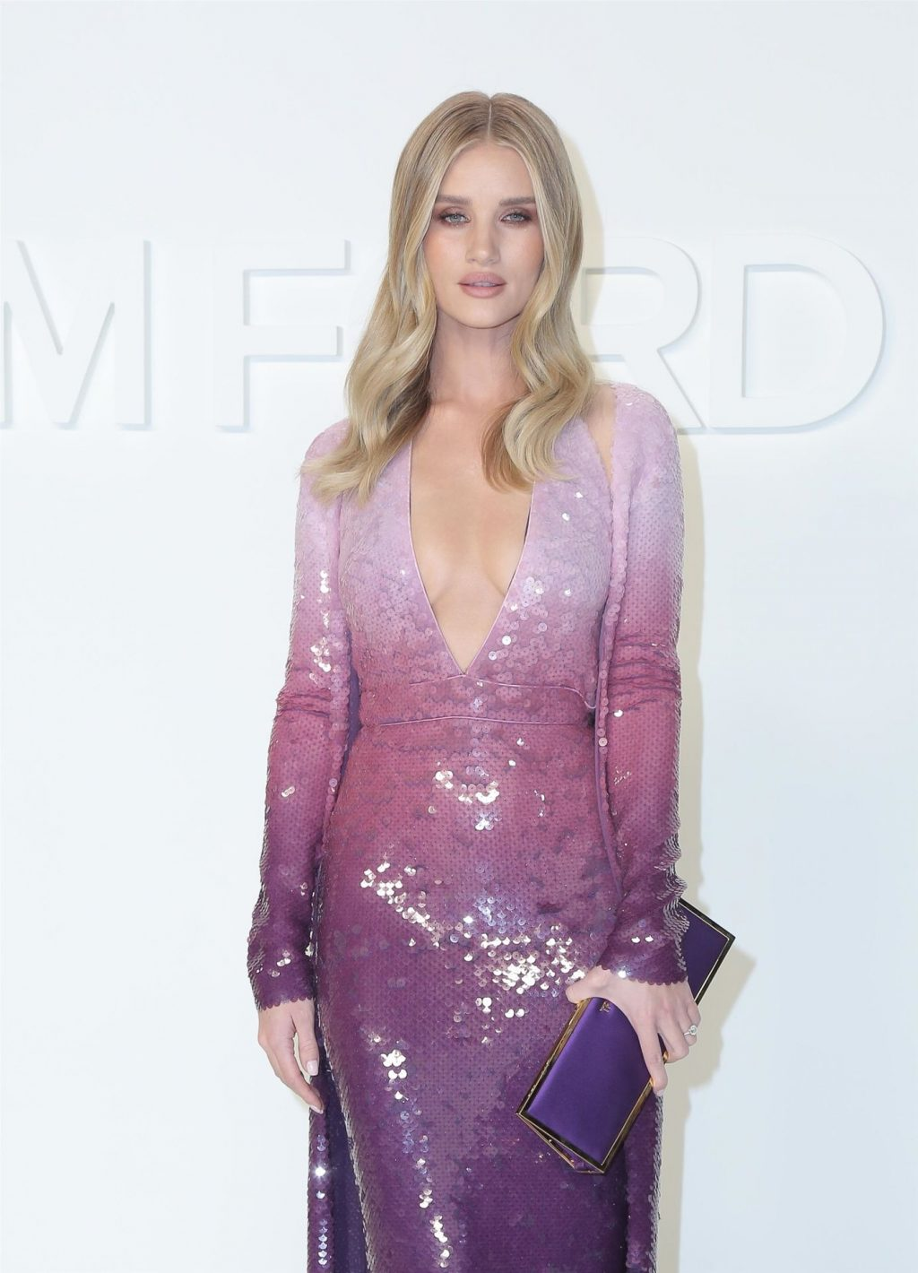 Rosie Huntington-Whiteley Shows Her Cleavage at the Tom Ford Fashion Show (115 Photos)