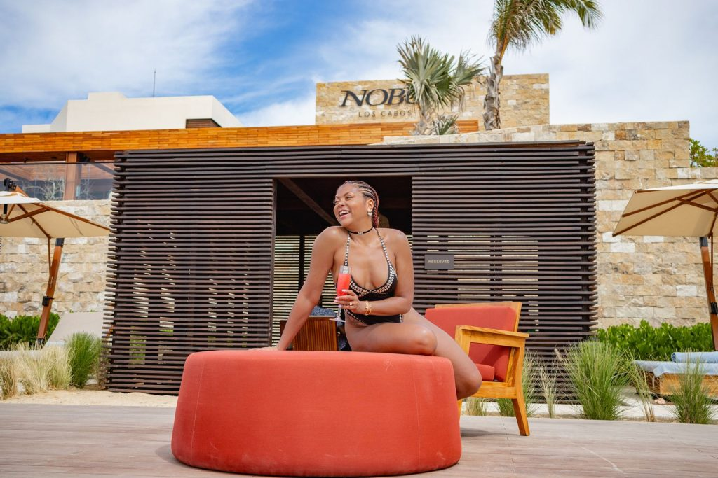 Taraji P. Henson Shows Off Her Stunning Figure at Nobu Hotel (21 Photos)