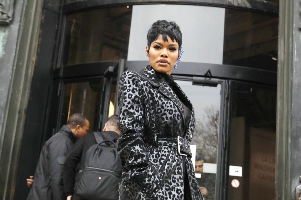Teyana Taylor Pictured Attending the Mugler Show in Paris (13 Photos)