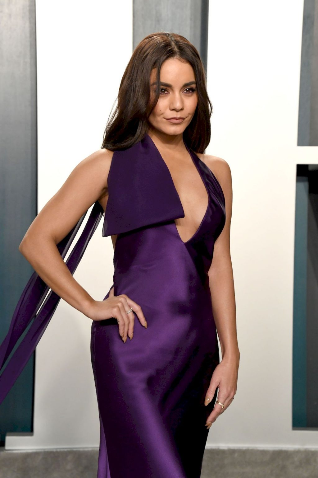 Vanessa Hudgens Looks Sexy in a Purple Dress at the Vanity Fair Oscar Party (45 Photos)