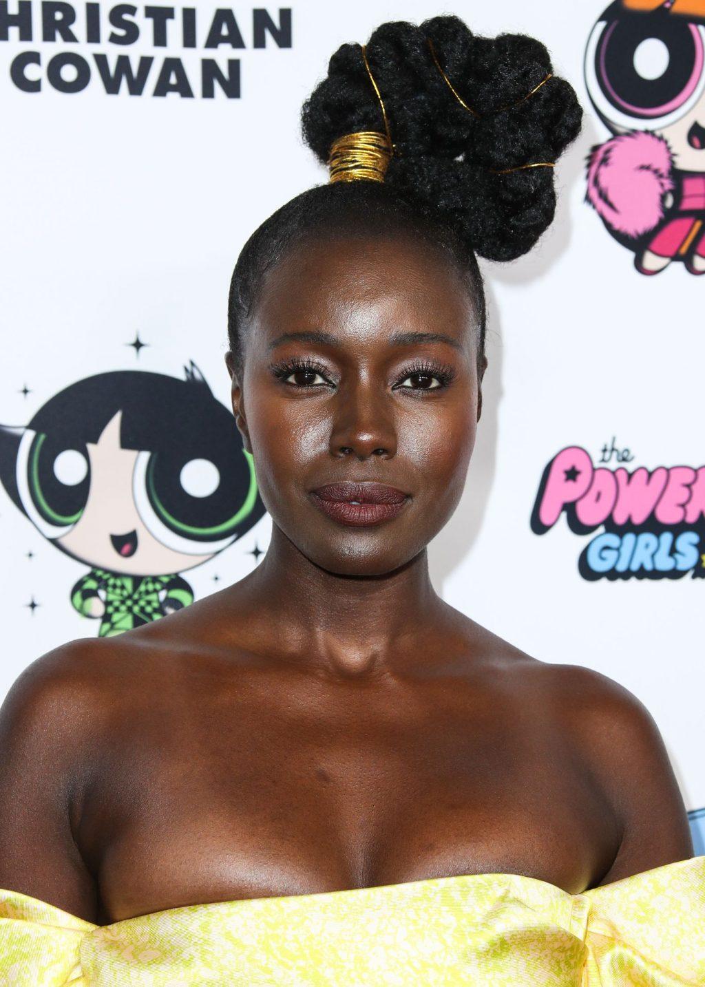 Anna Diop Flaunts Her Great Cleavage at the Christian Cowan x Powerpuff Girls Runway Show (4 Photos)