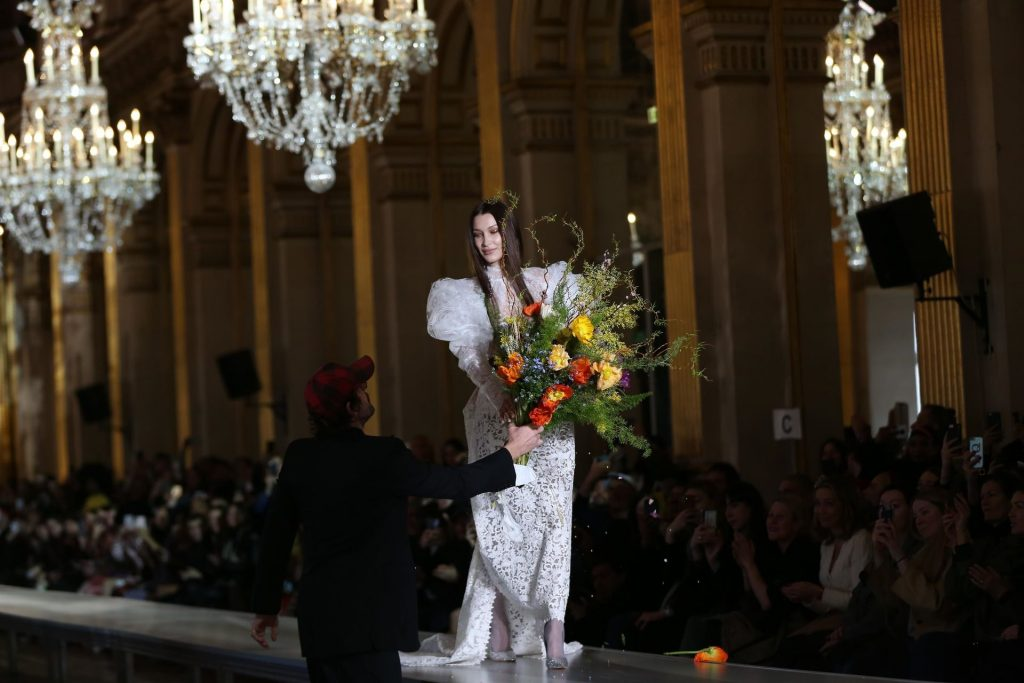 Bella Hadid Walks the Catwalk at Vivienne Westwood's Fashion Show (131 Photos + Video)